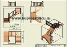геометрический проект лестницы