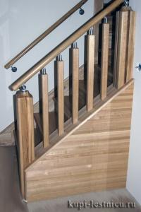 Трех маршевая лестница на 180 градусов на тетиве (5)