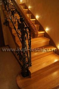 фото лестницы из дуба