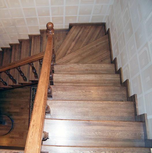 Деревянные лестницы фото сборка 5