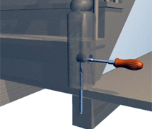 шпилька — анкер для крепежа столбов бетонной лестницы