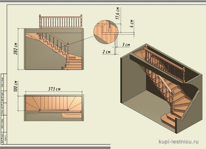Draw stairs to the second floor