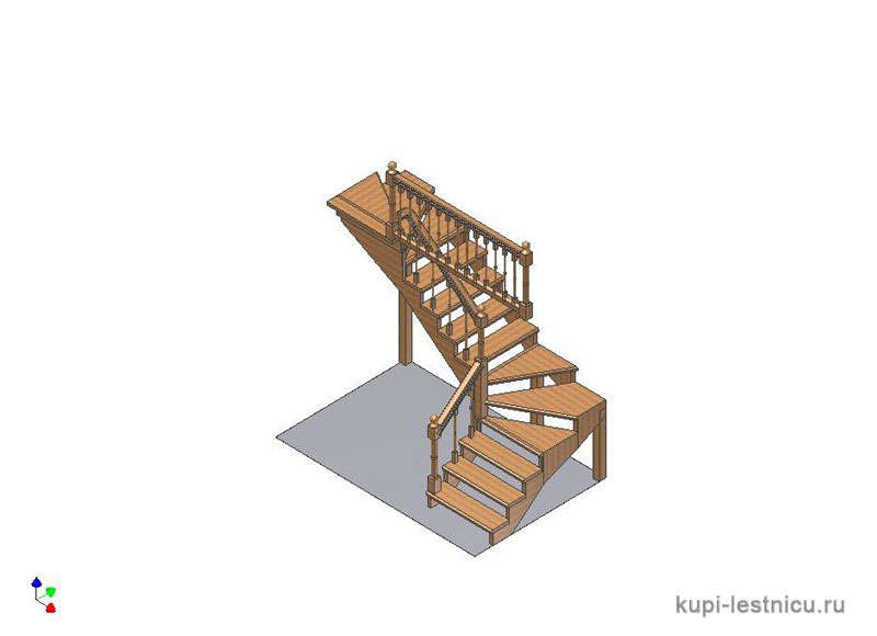 Лестница с забежными ступенями своими руками чертежи