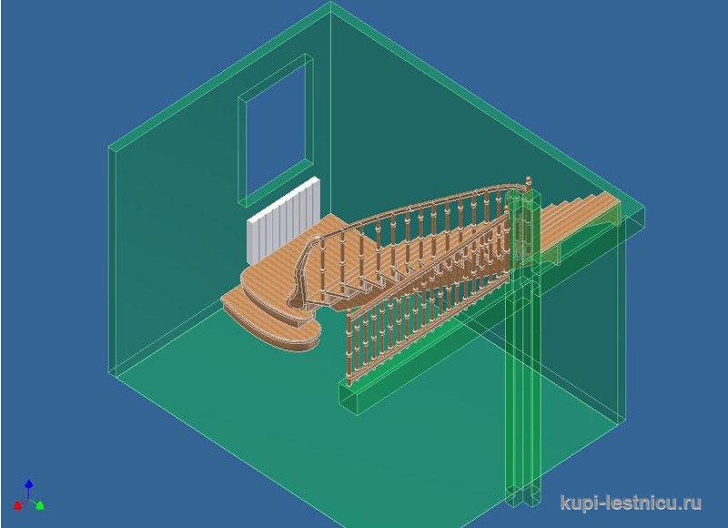 Забежная лестница с поворотом на 90 градусов своими руками фото 551