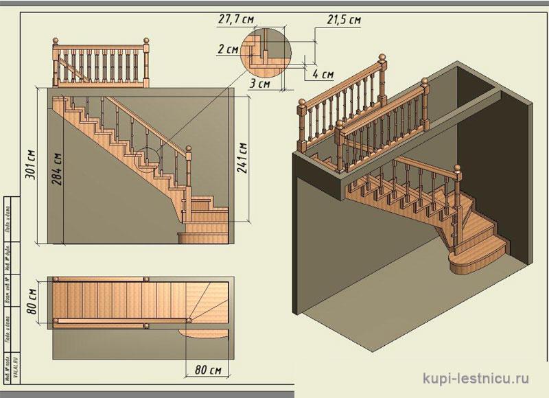 Расчет лестницы своими руками на второй этаж