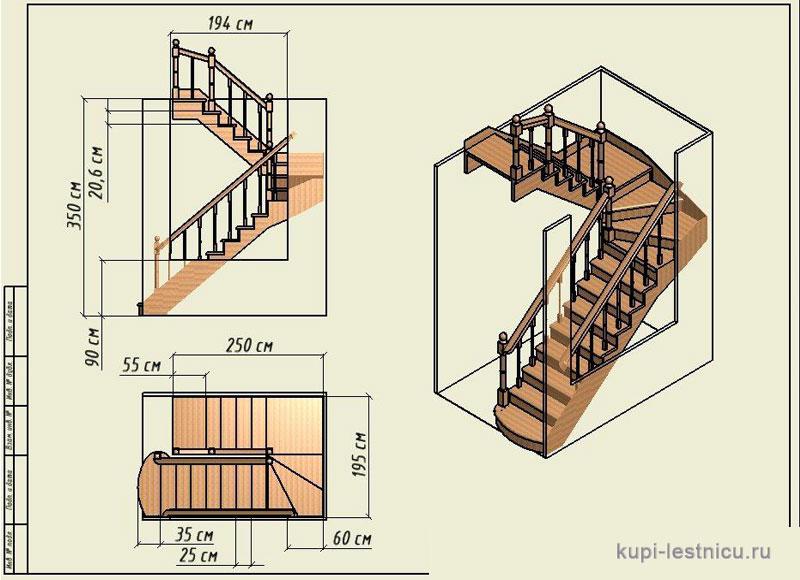 Лестница на 180 своими руками