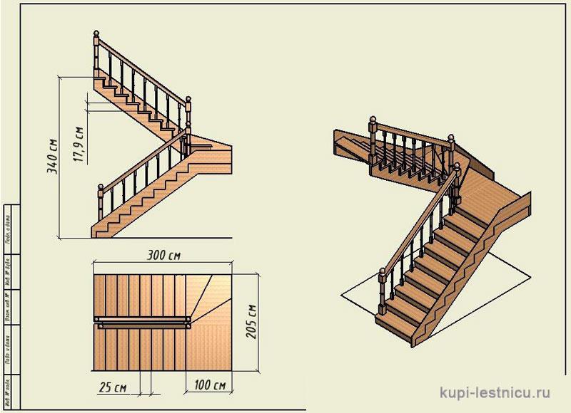 Расчет лестницы на второй этаж в частном доме своими руками схема фото 89