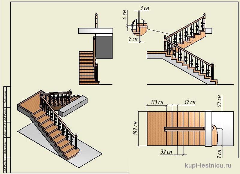 Одномаршевую лестницу сделать 37