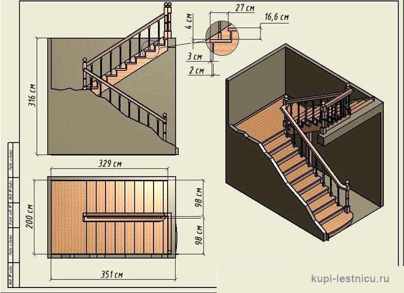 Расчёт лестницы на второй этаж в частном доме своими руками схема фото