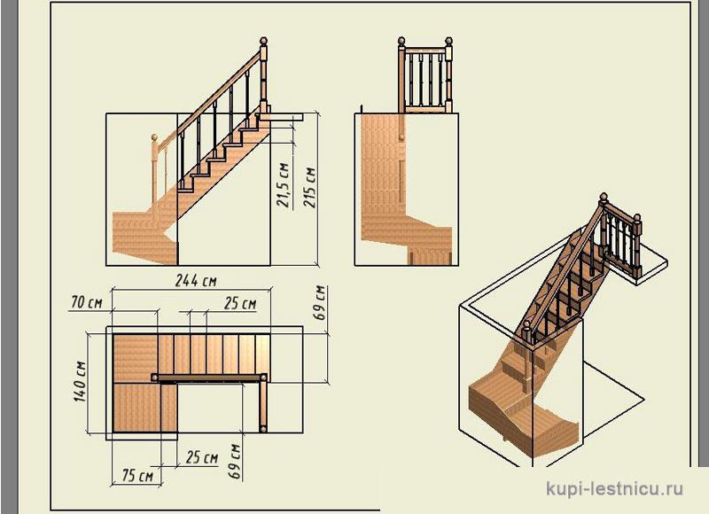 Лестницы на второй этаж фото в частный дом своими руками чертежи