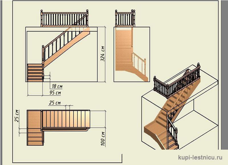 Фото лестниц на второй этаж в частном доме своими руками расчет фото 9