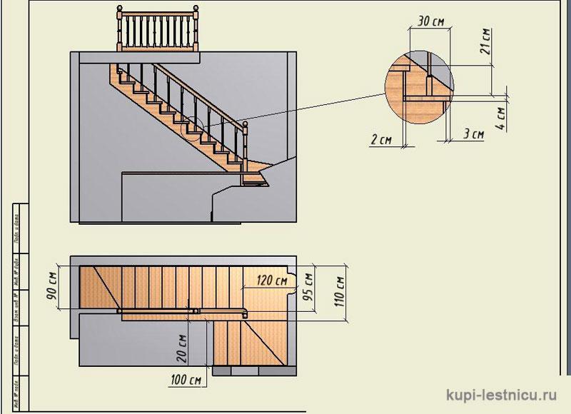 Лестница своими руками на 180 градусов