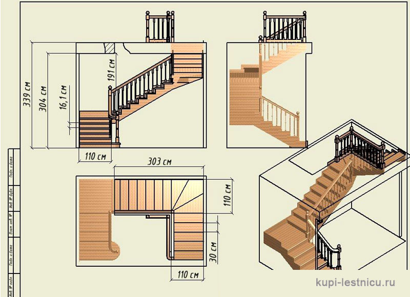 Как изготовить маршевую лестницу