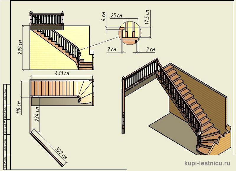 Лестница своими руками г образная