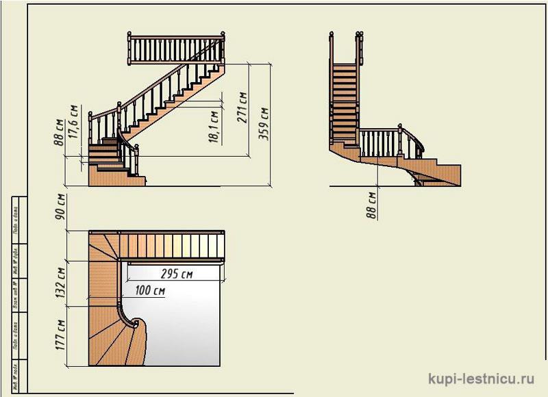 Г образная лестница своими руками