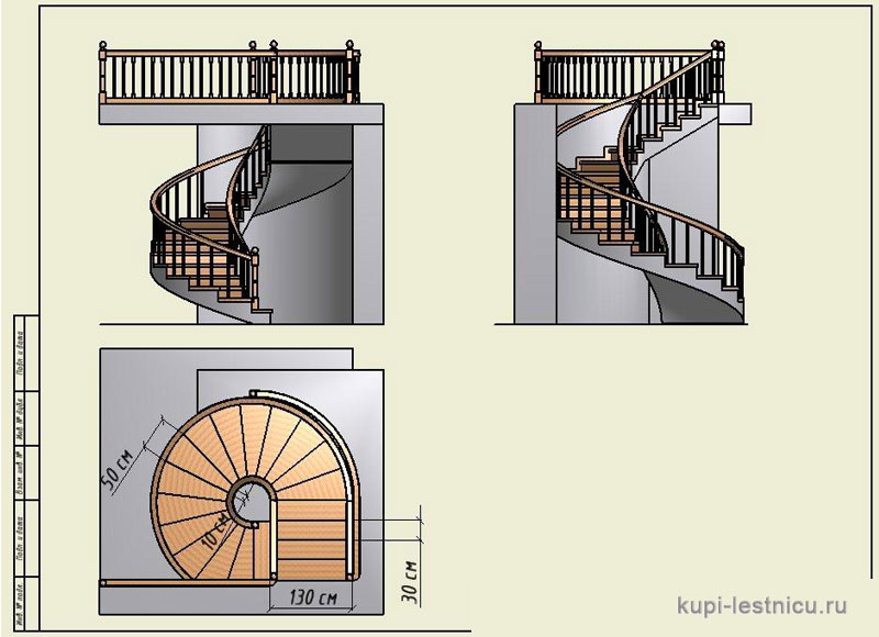 Как сделать круговой лестницы