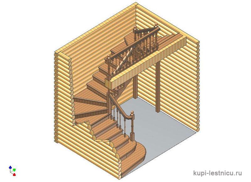 Как сделать п-образную лестницу своими руками