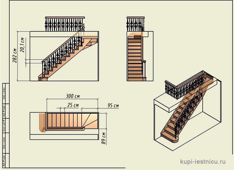 Лестница своими руками на второй этаж размеры