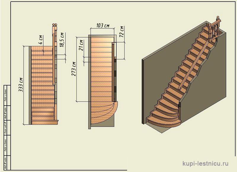 Маршевые лестницы деревянные своими руками