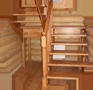 открытая лестница на даче