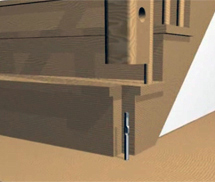 крепление столба бетонной лестницы