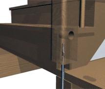 зипболь крепление столба бетонной лестницы