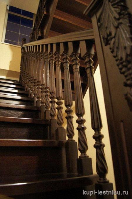 Купить деревянную лестницу в Красноярске от производителя